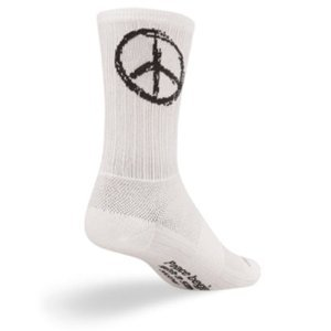SockGuy SGX 6in Peace Performance Cycling/Running Socks (Peace - L/XL) Size X-Large