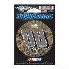 "NASCAR Dale Earnhardt Jr 77850015 Round Vinyl Decal, 3"" x 3"", Black"