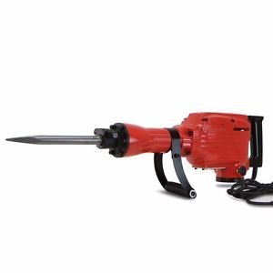 HD 2200 Watt Electric Demolition Jack Hammer Concrete Breaker Punch Chisel Bit from Genric