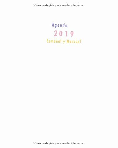Agenda 2019 Semanal y Mensual: diseño de llama y lunares, color rosa, turquesa púrpura, 1 semana en 2 páginas, 52 semanas planificador y calendario (Enero a Diciembre 2019) (Spanish Edition) Papeterie Collectif