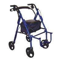795BU - Duet Dual Function Transport Wheelchair Walker Rollator, Burgundy