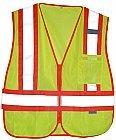 Athena Brands 1283 ANSI Class 2 Safety Vest - X-Large44; Fl. Yellow - Case of 12