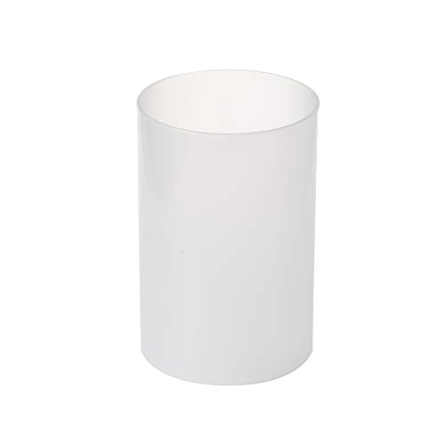 "KICHI Various Size Frosted Glass Hurricane Candle Holders, Chimney Tube, Frosted Glass Cylinder Open Both Ends, Open Ended Hurricane, Frosted Lamp Shade for 3.5"" x 8"" Multiple Specifications"