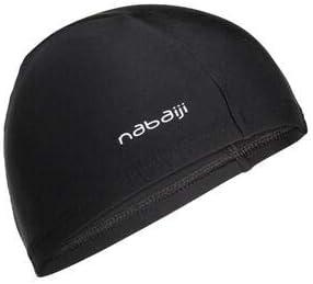NABAIJI MESH Fabric Swimming Cap, for Youth, Black