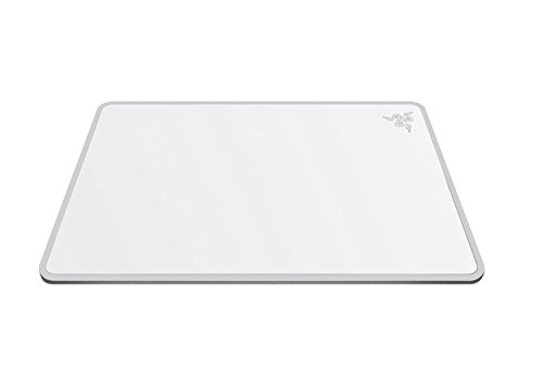 (Razer Invicta Gaming Mousepad - [Mercury White]: Aircraft-Grade Aluminum Base - Included Double-Sided Mat Surface for Personalization - Anti-Slip Rubber Base)