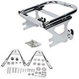 ASD-Chrome-Two-Up-Razor-Chopper-King-Size-Tour-Pak-Pack-Trunk-Detachable-Mounting-RackDocking-Harware-kit-For-