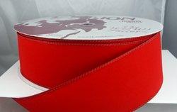 Christmas Ribbons - Wired Red Velvet Christmas Ribbon 2 1/2
