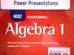 Holt Algebra 1 California: Power Presentations CD-ROM Algebra 1 (Holt Rinehart And Winston Algebra 1 Worksheets)