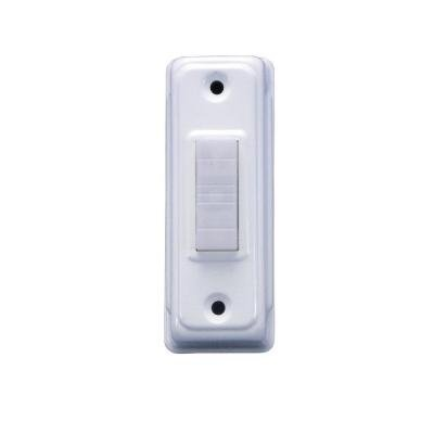 IQ America Wired Lighted Doorbell Push Button - Deco White