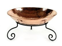 Cheffield DCOB21+FF113 Copper Bowl with Iron Stand, 4 gal Capacity, Large by Cheffield
