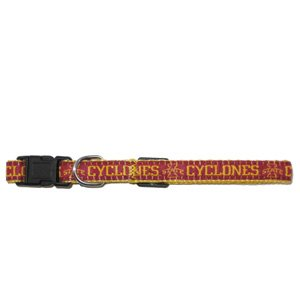 Mirage Pet Products Iowa State Cyclone Collar for Dogs and Cats, Medium