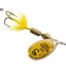 Wordens Sonic Rooster Tail Lure, 1/8-Ounce, Yellow Mylar