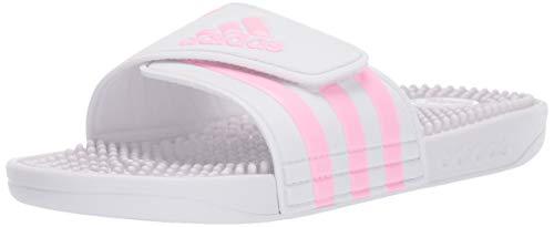 adidas Unisex Adissage,white/true pink/white, 3 M US Little Kid
