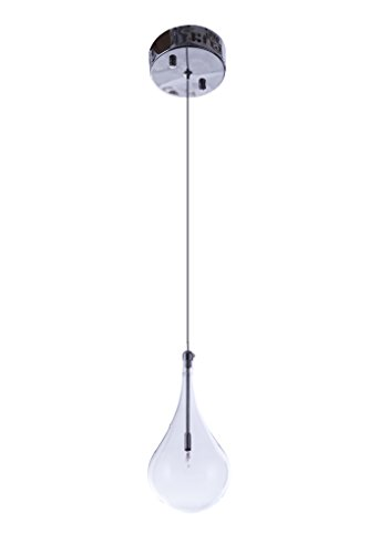 Larmes 5 Light Pendant - Modern Teardrop Low-Voltage Mini-Pendant Larme Glass Polished Chrome