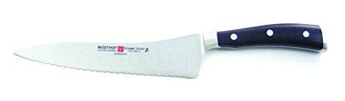 "Wusthof Classic Ikon 8"" Wavy Edge Forged Deli Knife 4124-7 by Wüsthof"