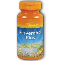 Resveratrol Plus, 75 mg, 30 caps by Thompson (Pack of 4)