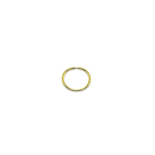14K Gold Single Tiny Small Endless 10mm Round Thin Lightweight Unisex Hoop Earring (1pc) 14k Yellow Gold Single
