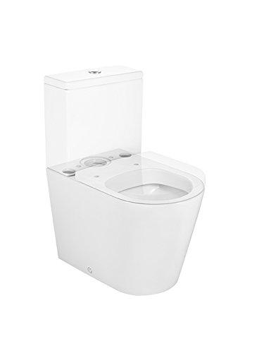 color blanco cisterna y tapa no incluidos Taza compacta adosado a pared salida dual Roca A342528000 Colecci/ón Inspira Round