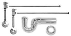 Mountain Plumbing MT3045-NL-BRN Brushed Nickel Universal New England Lavatory Supply Kit - Angle by Mountain Plumbing