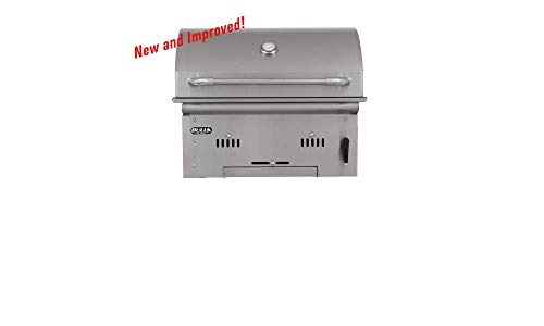 Bull Outdoor Products 67529 Bison Charcoal Stainless Steel Grill Head (Grill Charcoal Built In Bbq)