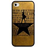Custom Hamilton iPhone 4 Case Cover iPhone 4 iPhone 4s Black Plastic Shock-Absorption Case](Custom Iphone 4 Case)