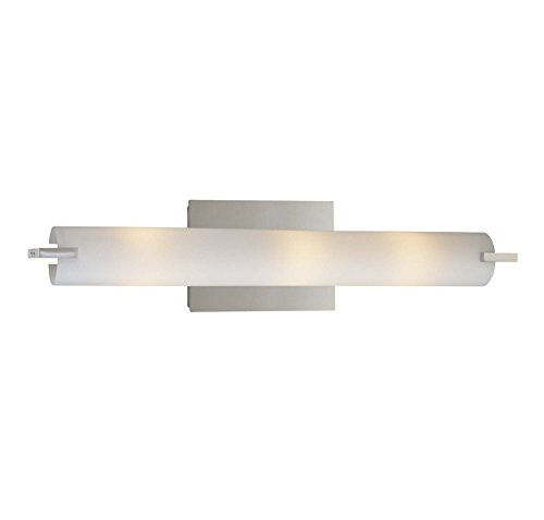 077 Bath Lighting (George Kovacs P5044-077, Tube, 3 Light Bath Fixture, Chrome)