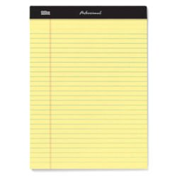 Office Depot Professional Legal Pad, 8 1/2in. x 11 3/4in., Legal Ruled, 50 Sheets Per Pad, Canary, Pack Of 8 Pads, 99527