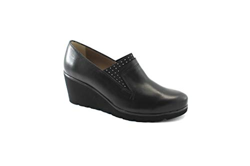 Cuña Zapatos Nero Luz Negros Mujer Melluso De R45004e Elástica Vertical npwYq11CR