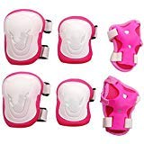 Eforstore Adult Women/men Unisex Knee Elbow Wrist Protective Pads Set for Skateboard Cycling