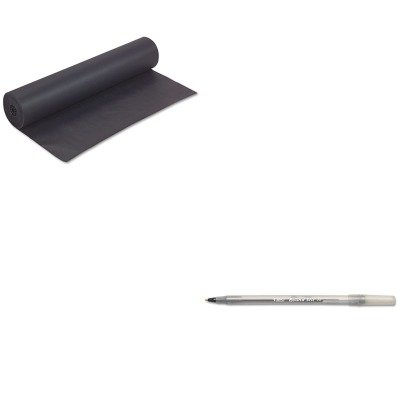 KITBICGSM11BKPAC63300 - Value Kit - Pacon Rainbow Duo-Finish Colored Kraft Paper (PAC63300) and BIC Round Stic Ballpoint Stick Pen (BICGSM11BK)