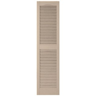 "Mid-America 00 01 1436023 14.5"" x 36"" Wicker Louvered Vinyl Exterior Shutters (Pair)"