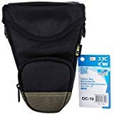 Kiwifotos Holster Style Camera Bag Camera Case for Canon EOS Rebel Series T7i/T6s/T6i/T5i/T4i/EOS 77D/80D/70D/6D, Nikon D90/D7500/D7200/D7100/D5600/D3400, Sony Alpha A7/A7 II/A7R/A7R II, Weather-proof