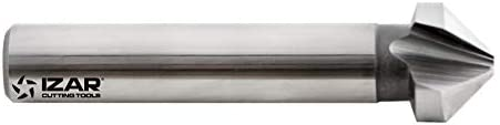 Izar 74664 Avellanador Mango Cilíndrico 3Z 90°, HSSE 5% Co, 2575, DIN 335 C, 10.00 mm Diámetro Corte
