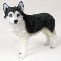 Husky Figurine Siberian Dog - Husky Black/White - Dog Figurine