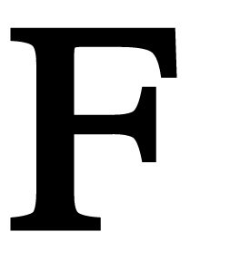 18 Inch Letter F Large by Village Wrought Iron
