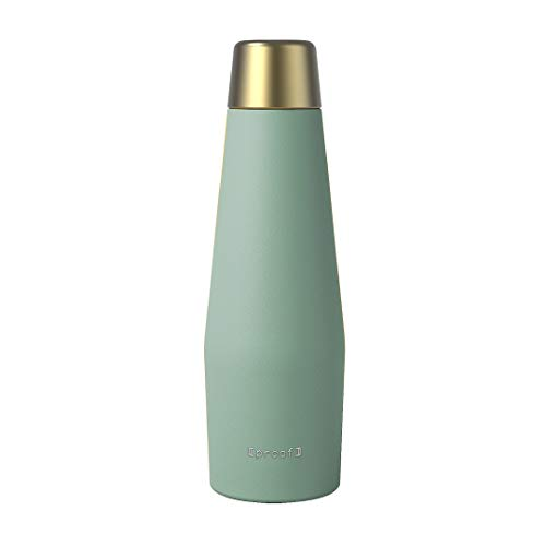 Proof Double Wall Vacuum Insulated Stainless Steel Water Bottle, 18 oz, Earth | Seafoam Green
