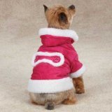East Side Collection ZM3945 16 75 Hooded Sherpa Jacket for Dogs, Medium, Raspberry