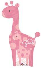 (GIRAFFE Girl PINK Sweet SAFARI Jungle POLKA Dots BABY Shower 50