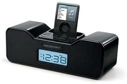 Merkury Innovations Radio Alarm Clock Docking Station for iPod Black