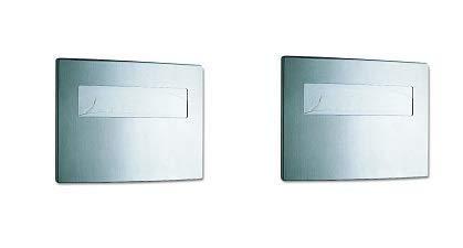 Bobrick 4221 Toilet Seat Cover Dispenser, 15 3/4 x 2 1/4 x 11 1/4, Satin Stainless Steel (2-(Pack))
