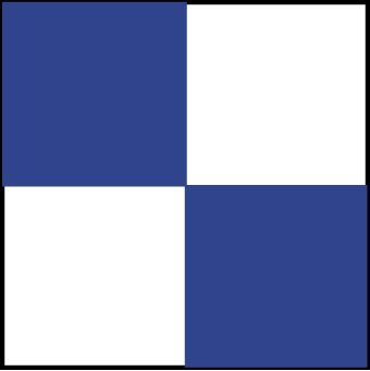 NMC CBT20436 2'' x 36'' Yds Blue/White Checkerboard Safety Tape, Pack of 8 Rolls by National Marker