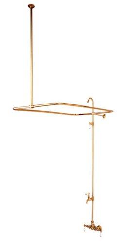 Kingston Brass CC63T2 Vintage Leg Tub Filler and Shower, Polished Brass Leg Tub Shower Enclosure