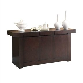 Modern Dining Room Sideboard Server Table Cabinet In Cappuccino Buffet  Server Table Cabinet Sideboard Wine Vintage