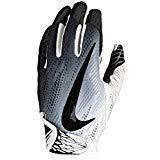 (Nike Football Glove - Vapor Knit 2.0 (White/White/Black, Large))