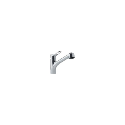 Franke FFPS280 Single-Handle Pull-Out Spray Kitchen Faucet, Satin Nickel
