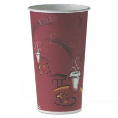 SOLO® Cup Company Single-Sided Poly Paper Hot Cups in Bistro® Design SCC 420SI