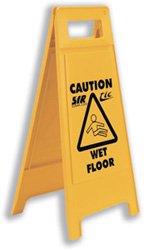 (Stewart Superior Wet Floor Sign Yellow - Ref)