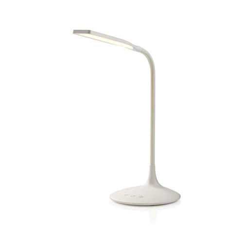 Nedis – Dimbare LED-tafellamp – bediening van de knop – 3 lichtmodi – koud wit, warm wit, natuurlijk wit – lithium…