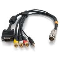 2212-60018-002: RapidRun® 1.5ft HD15 + 3.5mm + Composite Video + Stereo Audio Flying Lead