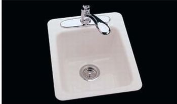 Ceco 721C-8-22 Cast Iron Bar Sink 16'' x 20'' x 8'' - Biscuit